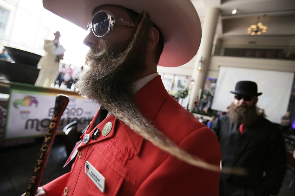 The National Beard and Mustache Championship starts in New Orleans, Louisiana USA