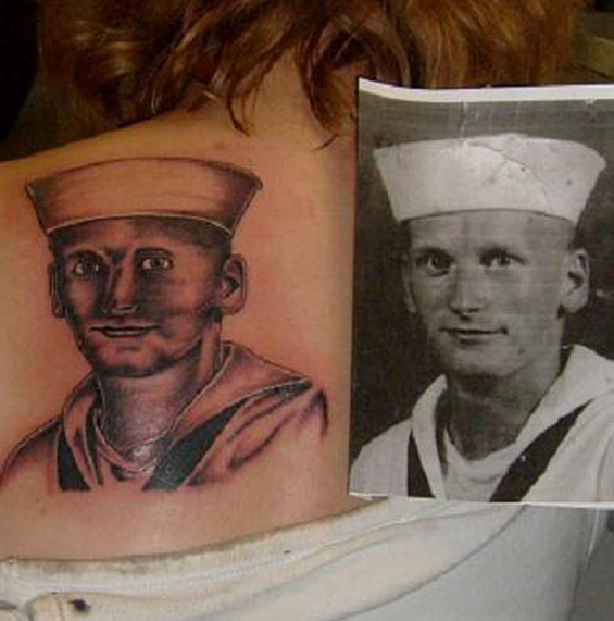 The artist who obviously has a thing against sailors.