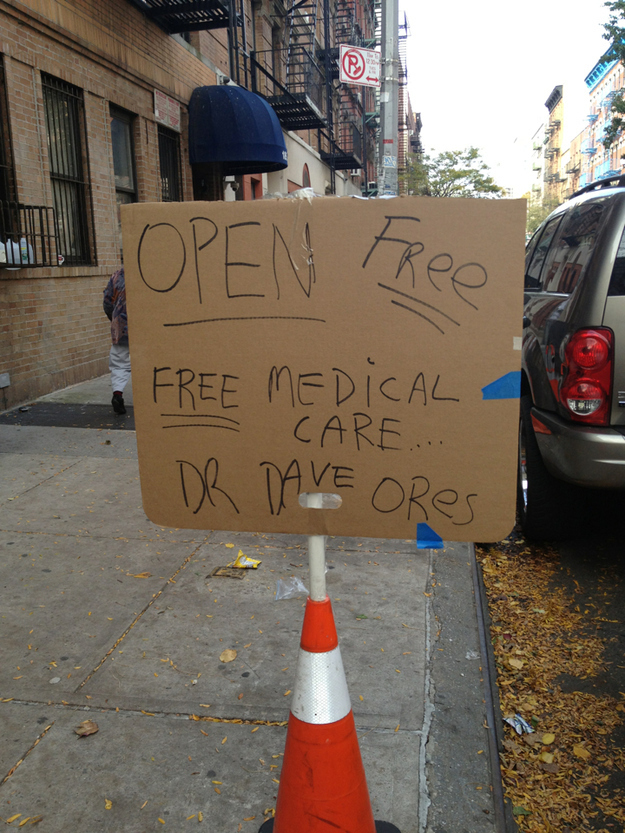 The doctor who offered free medical care after Hurricane Sandy