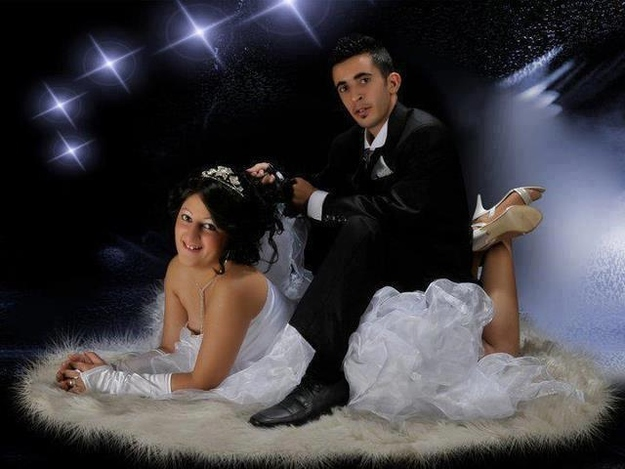 If the groom wants to ride the bride like a horse, politely discourage him.