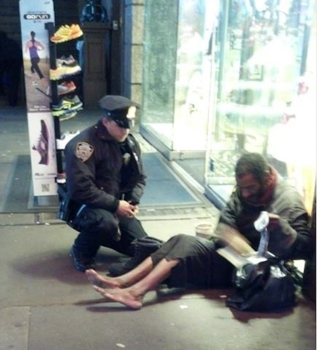 The police officer who bought shoes for a barefoot homeless man