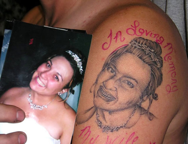 The person who did the worst tattoo job the internet has ever seen.