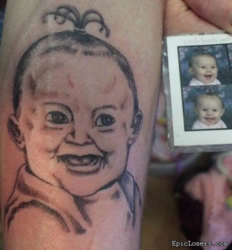 The tattooist who's never seen a real-life baby.