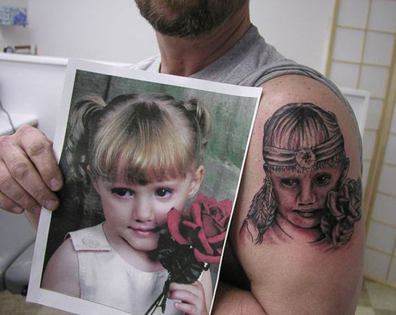 The tattooer who should have stuck to the pigtails.