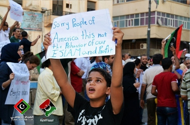 This Libyan child who doesn't believe in hate