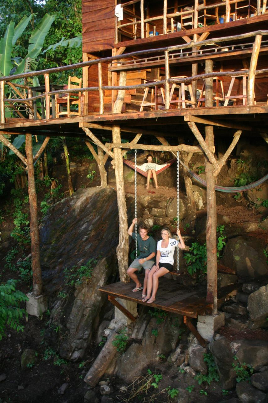 In this treehouse swing in Granada, Nicaragua.