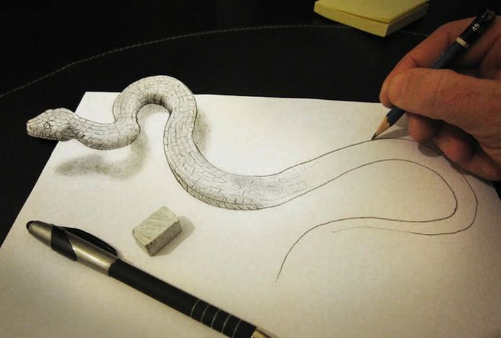 0425 Anamorphic 3D Pencil Drawings by Alessandro Diddi