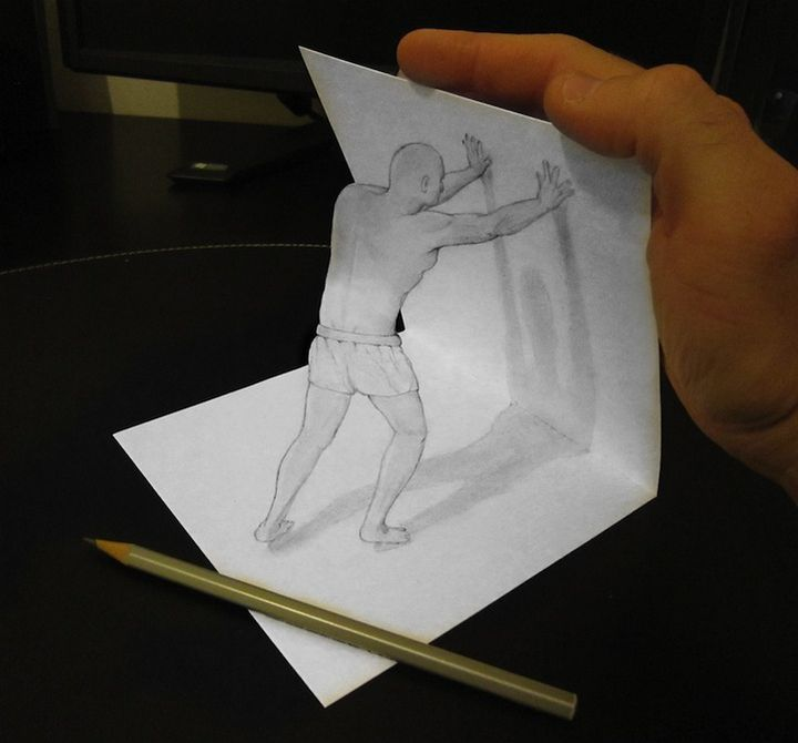 0525 Anamorphic 3D Pencil Drawings by Alessandro Diddi