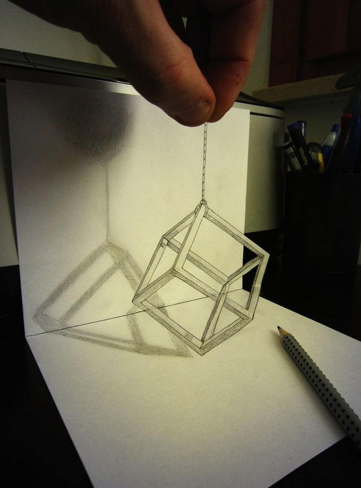 0625 Anamorphic 3D Pencil Drawings by Alessandro Diddi
