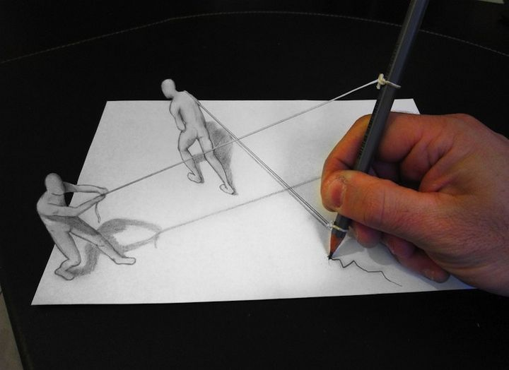 0925 Anamorphic 3D Pencil Drawings by Alessandro Diddi