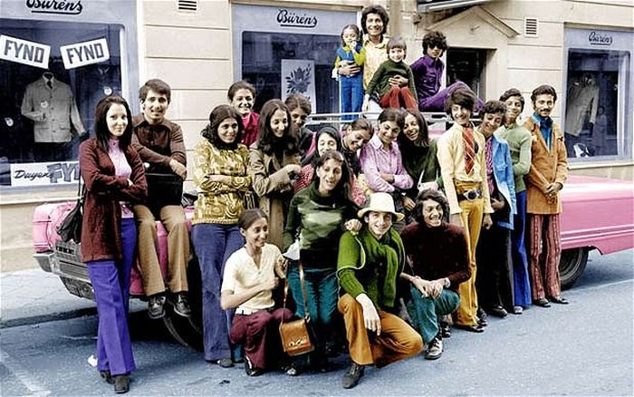 Fourteen year-old Osama bin Laden. He's second from the right