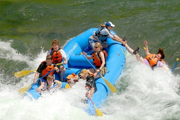 The perfectly timed white water rafting photo:
