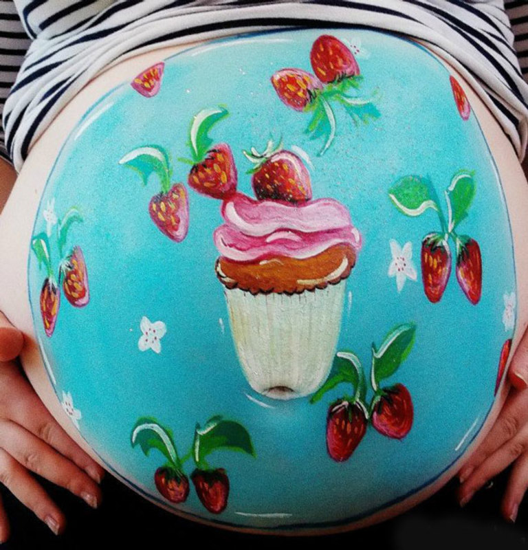 pregnant bump painting carrie preston 15