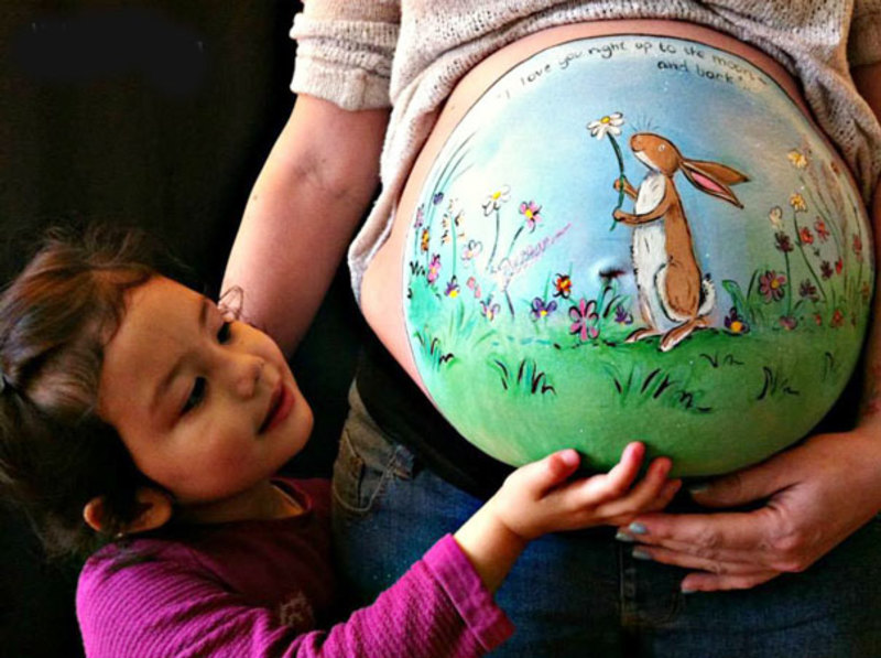 pregnant bump painting carrie preston 21