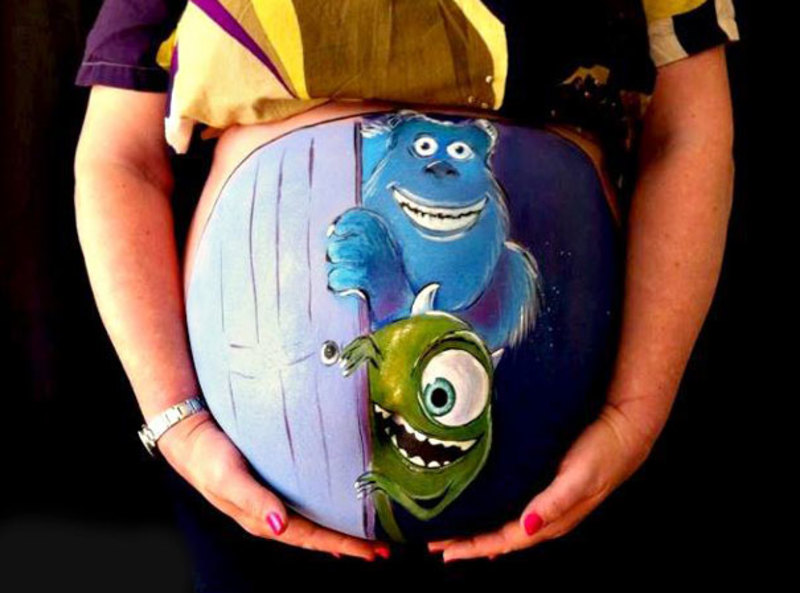 pregnant bump painting carrie preston 25