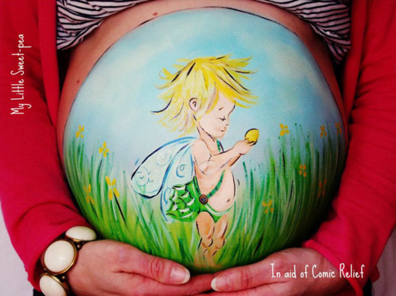 pregnant bump painting carrie preston 5