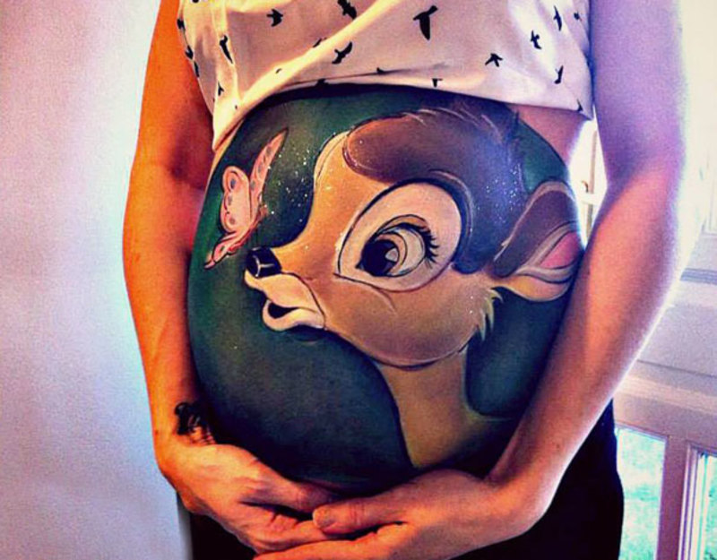 pregnant bump painting carrie preston 7