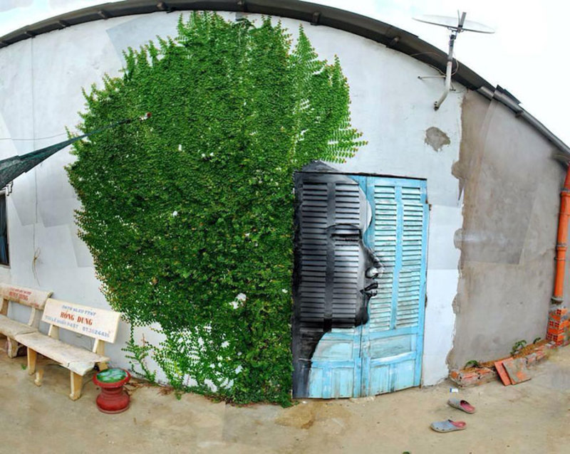 street art interacts with nature 15